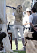 Emily VanCamp - shooting Revenge at a rifle range in Los Angeles 10/30/12