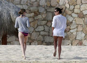 Лиа Мишель, фото 1601. Lea Michele - wearing a bikini in Cabo San Lucas 02/19/12 / tagged, foto 1601,