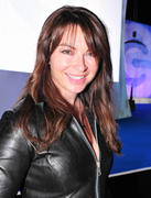 Suzi Perry In A Leather Catsuit